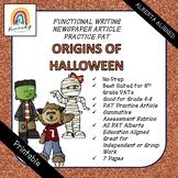 PRINTABLE Newspaper Article - Origins of Halloween   Alber