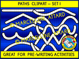 PATHS CLIPART: GREAT FOR FINE MOTOR SKILLS, PRE-WRITING ACTIVITIES AND GAMES