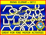 PATHS CLIPART: GREAT FOR PRE-WRITING ACTIVITIES, FINE MOTOR SKILLS & GAMES