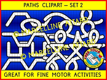 PATHS CLIPART: GREAT FOR PRE-WRITING ACTIVITIES, FINE MOTO