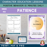 PATIENCE -Positive Behavior | Daily Character Education |