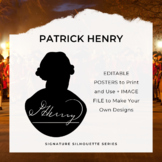 PATRICK HENRY Signature Silhouette Posters