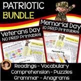 Veterans Day and Memorial Day PATRIOTIC BUNDLE