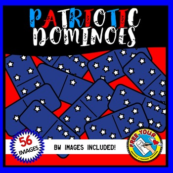 FLAG DAY CLIPART (PATRIOTIC DOMINOES CLIPART) 4TH OF JULY CLIPART