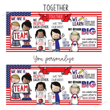 PATRIOTIC KIDS - Classroom Decor: LARGE BANNER, In Our Class