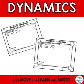 Patriotic Music Class Worksheets: Dynamics, Notes, Expression, Symbols, Editable