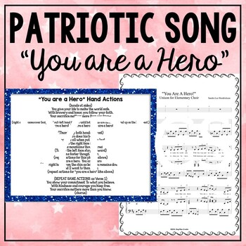 """Patriotic Song """"You Are A Hero"""" Unison Video Sing-a-long & Mp3 Tracks"""