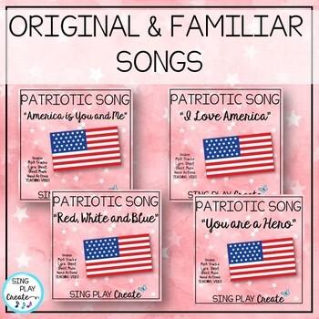 Patriotic Music Program with Script, Familiar and Original Songs, Video, Mp3