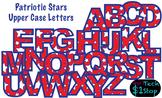 PATRIOTIC STAR * Upper Case Letters * Bulletin Board * Red
