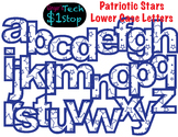 PATRIOTIC STARS * Lower Case Letters * Bulletin Board * Blue * Memorial Day