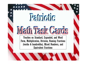 PATRIOTIC TASK CARDS