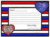 THANK A VETERAN!  PATRIOTIC THANK YOU LETTER TEMPLATE FOR VETERANS DAY!