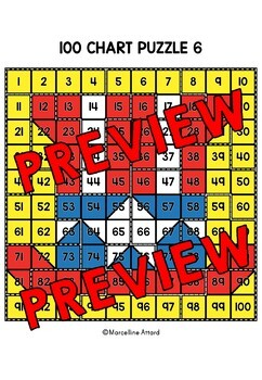 PATRIOT DAY ACTIVITY MATH KINDERGARTEN (100 CHART MYSTERY PICTURE PUZZLES)