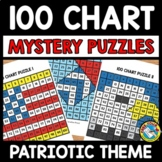 PATRIOTIC THEME ACTIVITY KINDERGARTEN (100 CHART MYSTERY P