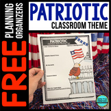 PATRIOTIC Theme Decor Planner by Clutter Free Classroom