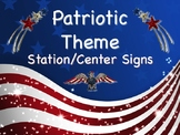 PATRIOTIC Themed Station/Center Signs - Great Classroom Management!