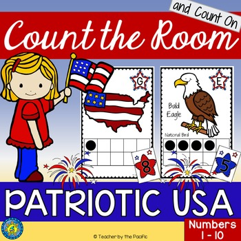 PATRIOTIC USA Math Center: Count the Room 1 - 10