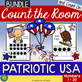 PATRIOTIC USA Math Center: Count the Room and Count On {1-20 BUNDLE}