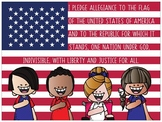the BRAINY BUNCH - 18 x 24 POSTER - Pledge of Allegiance