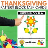PATTERN BLOCK THANKSGIVING Task Cards for November STEM
