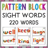 SIGHT WORDS WITH PATTERN BLOCKS-PATTERN BLOCK TEMPLATES