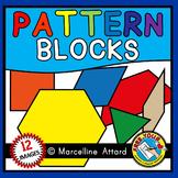 PATTERN BLOCKS CLIPART (MATH MANIPULATIVES GEOMETRY CLIPART)