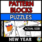 NEW YEAR ACTIVITY 1ST GRADE (KINDERGARTEN PATTERN BLOCKS P