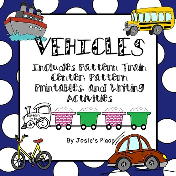 PATTERN Train Center,Pattern Printables and Writing Activities