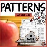 PATTERNS | INPUT OUTPUT TABLES   GRADE 4 VIRGINIA SOL 4.15