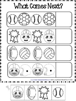 PATTERNS: Sports Patterns Worksheets