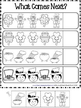 PATTERNS: St. Patrick's Day Patterns Worksheets