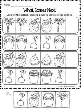 PATTERNS: Summer Patterns Worksheets