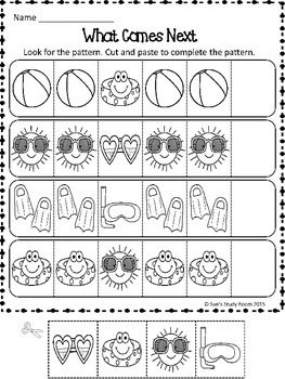 PATTERNS: Summer Patterns Worksheets