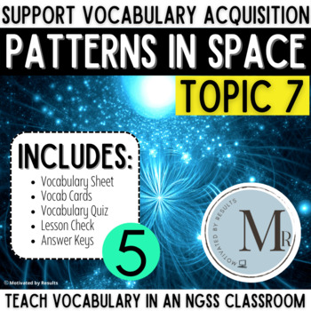 PATTERNS in SPACE Topic 7 5th Grade Study Set