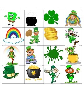 PATTYS DAY BINGO- Speech