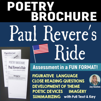 PAUL REVERE'S RIDE - Foldable Poetry Brochure - Common Core