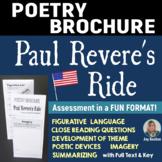 PAUL REVERE'S RIDE - Foldable Poetry Brochure - Common Core