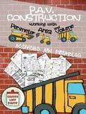 Perimeter, Area, and Volume: P.A.V. Construction Mega Pack