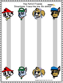 PAW PATROL PUPPY FRIENDS PRE-WRITING LINES / SHAPES prek123 OT SPED