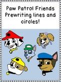PAW PATROL PUPPY FRIENDS PRE-WRITING LINES / SHAPES prek12