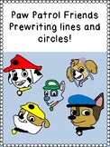 PAW PATROL PUPPY FRIENDS PRE-WRITING LINES / SHAPES prek12