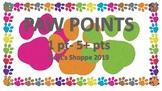 PAW POINTS (PBIS - positive behavior support)