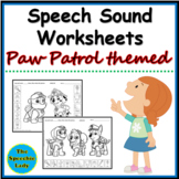 PAW Patrol Speech Sound Worksheets