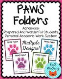 PAWS Folder {Student Organization Folder}