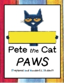 PAWS Folder and Binder - Pete the Cat Inspired