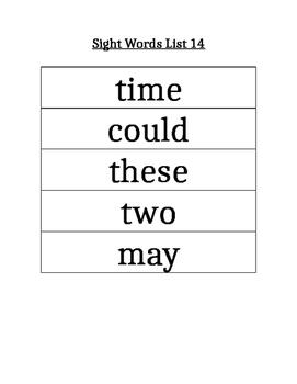 PAWS Sight Words (List 14)