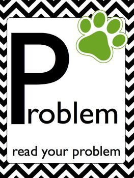 P.A.W.S. Word Problem Solving Strategy Using Folders and Bulletin Board Set