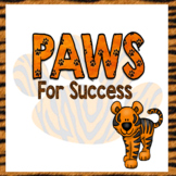 PAWS for Success - PBIS - Foldable Book
