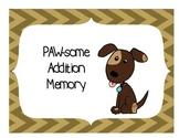 PAWsome Addition Memory Game