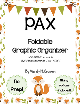 PAX by Sara Pennypacker Foldable Graphic Organizer Book Project